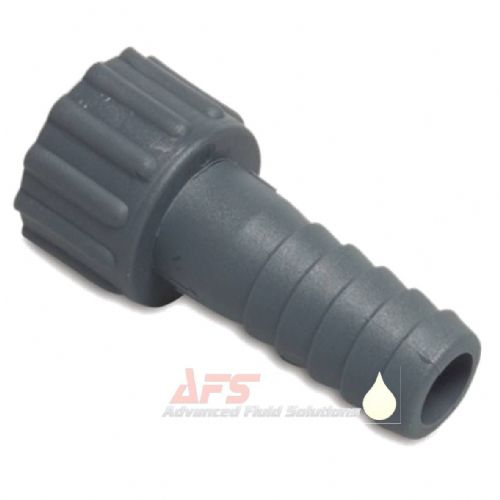 PP Grey 3/8 BSP Female Threaded Nut x 12mm Hose Tail (Polypropylene)